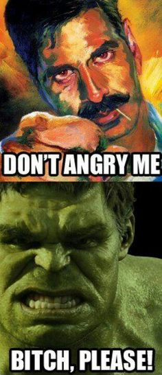 Don't angry me.. #rowdy #hulf