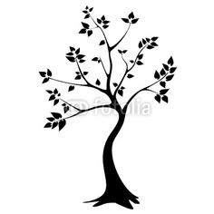 for entry: Vector: tree silhouette - vector graphics