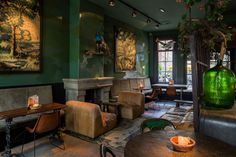 Lion Noir Restaurant and Bar in Amsterdam is a hip place to dine & drink. Lion Noir Restaurant offers French food in a stylish setting. Bohemian Restaurant, Bohemian Cafe, Eclectic Restaurant, Restaurant Design, Boho, Amsterdam Bar, Amsterdam Restaurant, Amsterdam Jordaan, Hotels