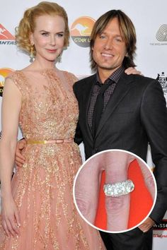 Nicole Kidman and Keith Urban - The happily married couple got engaged after Keith Urban proposed with a diamond-studded Cartier ring.  Read more: Top 25 Celebrity Engagement Rings - Best Celebrity Engagement Rings - ELLE Follow us: @ElleMagazine on Twitter | ellemagazine on Facebook