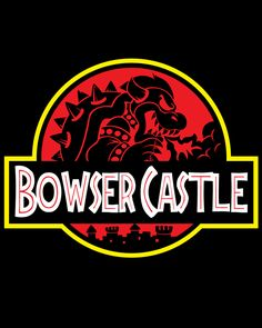 A Nintendo Super Mario Bros t-shirt featuring Bowser in a Jurassic Park logo parody. Art by Jak Gibberish. Super Mario Bros, Super Smash Bros, Movie T Shirts, Cool T Shirts, Mundo Dos Games, Hoodies For Sale, Mario Brothers, Jurassic Park, Cartoon Styles