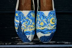 Starry Starry Night Tom ( Send me your TOMS). $35.00, via Etsy.