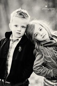 Siblings. Take one every year in the same pose to see how theyve grown.