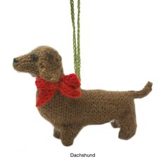 HAND KNIT DOG ORNAMENTS | puppy ornament, handmade, christmas decoration | UncommonGoods