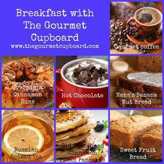 Breakfast with The Gourmet Cupboard.  So many mixes to choose from! YUM.