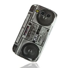 Classic Cassette Tape Recorder Hard Back Case For Samsung I9300