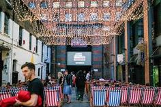 Image result for back yard cinema