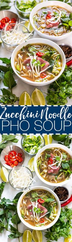 Daikon Radish & Zucchini Noodle Pho | Low Carb | Vegan-Friendly | Gluten Free - no beef tho