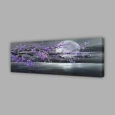 Oil Painting Hand Painted - Landscape Modern Canvas 2018 - $114.29