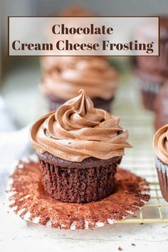 37.7KsharesPinterestFacebookEmail Dark Chocolate Cupcakes, Chocolate Cream Cheese Frosting, Chocolate Icing, Frosting Recipes, Cupcake Recipes, Cupcake Cakes, Sweets Recipes, Desserts, Cooking Recipes