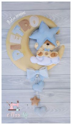 Baby Crafts, Felt Crafts, Diy And Crafts, Baby Boy Baptism, Baby Boy Shower, Felt Banner, Baby Girl Halloween, Felt Wreath, Baby Mobile