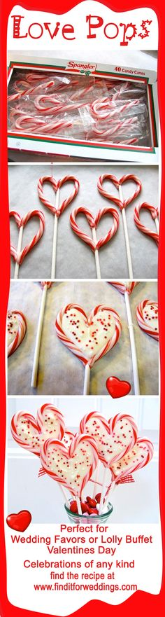 Love Pops-Valentines Day treats and ideal Wedding decorations www.finditforweddings.com Wedding Favors
