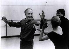 Balanchine. Genious. Rehearsal late in life.