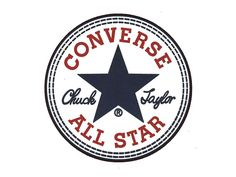 """The Converse All Star logo. """"Converse All Star"""" Tumblr Stickers, Phone Stickers, Logo Stickers, Macbook Stickers, Brand Stickers, Converse Logo, Converse All Star, Converse Chuck, Converse Shoes"""