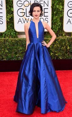 Julia Goldani Telles at Golden Globes 2015