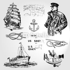 Dover Clip Art Old Fashioned Nautical
