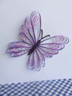 Week Seven: Quilled Butterfly (Husking Technique) #butterfly #quilling #huskingtutorial #huskingtechnique #purple #artblog