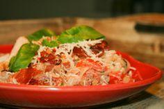 LOW CARB SHIRATAKI NOODLE RECIPES | Low Carb Spaghetti Carbonara med kylling