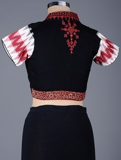 Buy Black Red White Embroidered Cotton Blouse with Sequins Women Blouses A Sequined Affair embroidery and Online at Jaypore.com