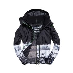 Superdry Black Edition Windcheater Jacket ($49) ❤ liked on Polyvore featuring men's fashion, men's clothing, men's outerwear, men's jackets, black, men's embroidered bomber jacket, mens zip jacket, mens leopard print jacket, mens jackets and mens windbreaker