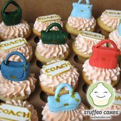 Stuffed Cakes: Coach Purses Mini Cupcakes