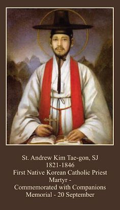 From the final exhortation of Andrew Kim Taegon, priest and martyr - Love and perseverance are the crown of faith