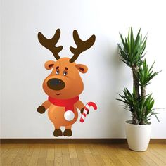 Reindeer Wall Decal Reindeer Wall Mural Reindeer By PrimeDecal Part 88