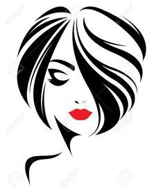66627297-illustration-of-women-short-hair-style-icon-logo-women-face-on-white-background-vector-Stock-Vector.jpg (1099×1300)