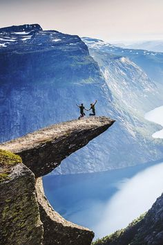 Trolltunga above the Ringedalsvatnet (lake), Norway  (by Zhuokang Jia on 500px) via Maurissa Bash
