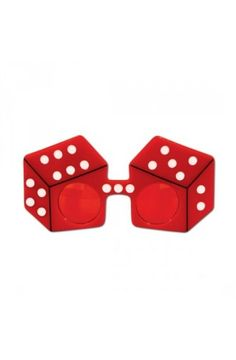 Red Dice Fanci-Frames Novelty Glasses - Casino Party Decoration Ideas