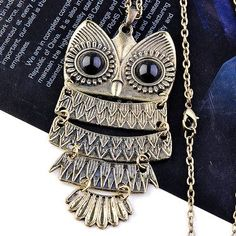 Cute Owl Pendant Necklace #owl #necklace www.loveitsomuch.com