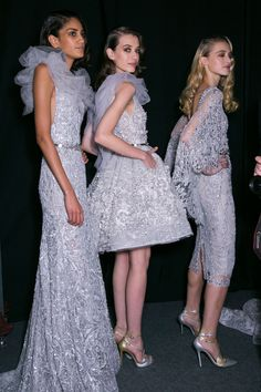 Zuhair Murad Spring 2015 Haute Couture backstage