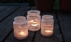 Windlichter - spectacular for the most beautiful garden party - Garden Design Ideas Kitchen Ornaments, White Spray Paint, Most Beautiful Gardens, Fire Bowls, Diy Presents, Little Gifts, Seasonal Decor, Decoration, 30