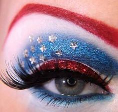 ✝☮✿★ MAKEUP ✝☯★☮ love this!!!for fouth of July...except the red brows..