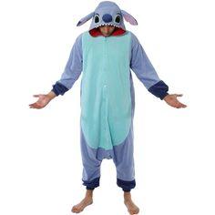 Stitch Pajama Costume ($69) ❤ liked on Polyvore featuring costumes, halloween costumes, stitch halloween costume, stitch dog costume, blue costume, stitch costume and blue halloween costume