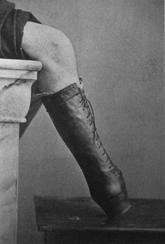 prosthetic boot, 1865