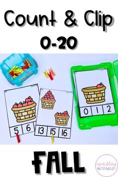 Count and clip cards for fall! 4 different clip card sets, numbers 0-20. Great for a math center or small math group!