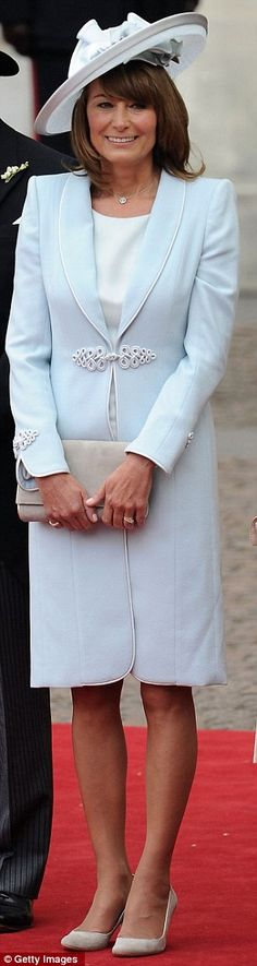 Carole Middleton, probably the most famous mother of the bride in recent history, looking fabulous at the Royal Wedding in 2011.