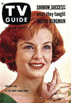 "TV Guide: March 1961 - Marjorie Lord of ""The Danny Thomas Show"" Marjorie Lord, Danny Thomas, Tv Moms, Broadcast News, History Of Television, Vintage Tv, Vintage Glamour, Pose Reference Photo, Ingrid Bergman"