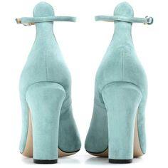 Valentino Tan-Go Suede Pumps ($785) via Polyvore featuring shoes, pumps, suede shoes, tan suede shoes, tan shoes, valentino shoes and tan pumps