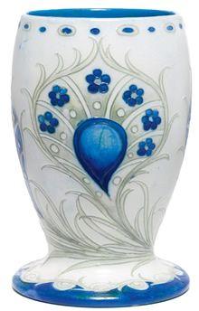 Vase | Moorcroft Peacock Design Vase