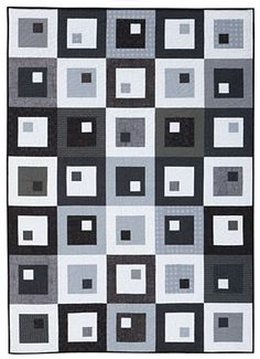 Moon Shadow Quilt Pattern Download - free! - what a great quilt pattern to use up scraps. or as a kids quilt!