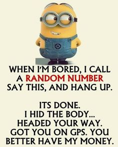 """These """"Top Minion Quotes On Life – Humor Memes & Images Twisted"""" are so funny and hilarious.So scroll down and keep reading these """"Top Minion Quotes On Life – Humor Memes & Images Twisted"""" for make your day more happy and more hilarious. Minions Images, Funny Minion Pictures, Funny Minion Memes, Minions Quotes, Funny Pranks, Minion Humor, Minion Stuff, Minions Minions, Funny Prank Calls"""