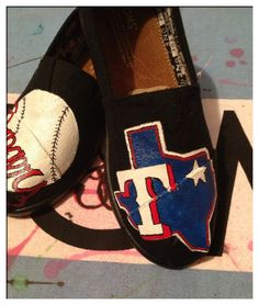 Texas Rangers Custom Toms Shoes by CustomTOMSbyJC on Etsy, $100.00