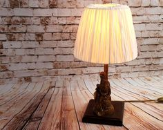 Unusual Lamps / Small unusual lamps / Edison Bulb Lamp / Christian Home Decor / Unique Religious Gift / Gift / Wooden Bedside Lamp