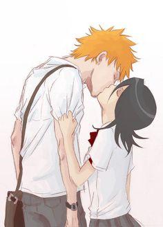 Bleach ichiruki kissing xD <3