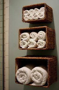 Packing things away neatly can make your space feel infinitely bigger! Baskets are an inexpensive ..