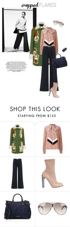"""""""Dearest 70's"""" by iriadna ❤ liked on Polyvore featuring Peter Pilotto, Orla Kiely, dVb Victoria Beckham, Alexander McQueen, Burberry, Gucci and Swarovski"""