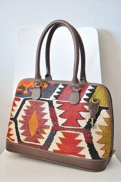FREE SHIPPING Turkish Kilim Bag. Unique vintage 100 by didiDECOR