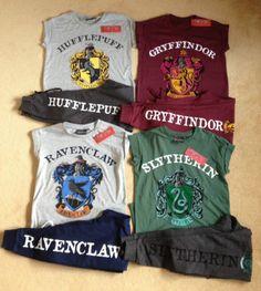 HARRY-POTTER-Tshirt-Hoodie-Socks-Joggers-Gryffindor-Ravenclaw-Slytherin-Primark